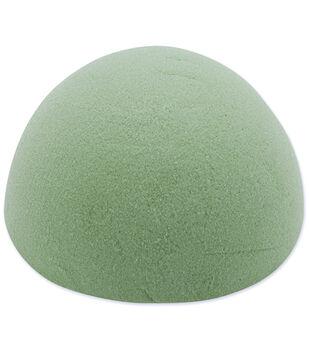 """Dry Foam Half Ball 6""""X3"""" 1Pk-Green"""