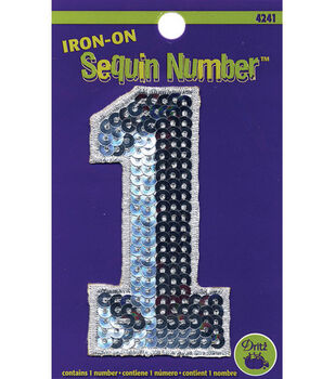 Iron-On Sequin Numbers-Number 1