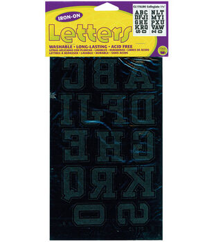 Iron-On Letters 1-3/4'' Collegiate-Black