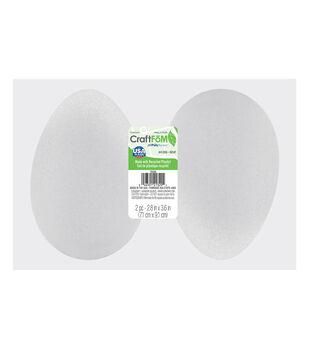 Styrofoam Eggs 3 13/16'' X 2 13/16''-White