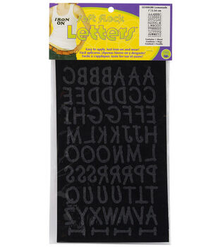 Dritz 1'' Iron-On Letters Lemonade Black