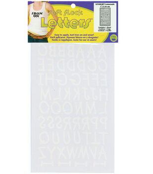 Dritz 1'' Iron-On Letters Lemonade White