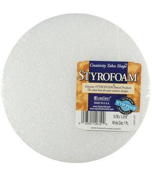 Floracraft 1-3/16''x5-7/8'' Styrofoam Disc-1PK/White