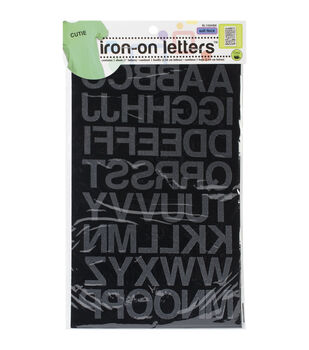 Dritz Fuzzy Touch Iron-On Letters 1'' Block
