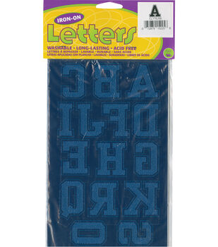 Dritz 1.75'' Iron-On Letters &Numbers Collegiate