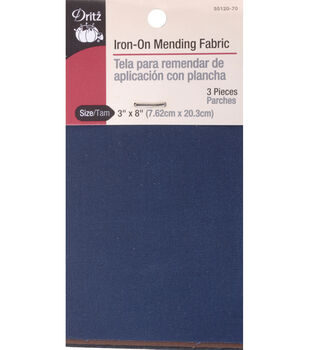 Dritz Iron-On Mending Fabric 3pcs 6''x13'' Black