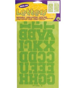 Dritz  Iron-On Letters 1-1/2'' Athletic 2/Pkg