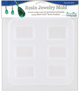 "Yaley Resin Jewelry Reusable Plastic Mold 6-1/2""x7""-Rectangles 6 Shapes"