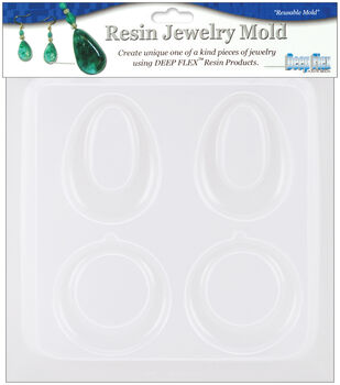 "Yaley Resin Jewelry Reusable Plastic Mold 5-1/2""x7""-Earrings 2 Pairs"