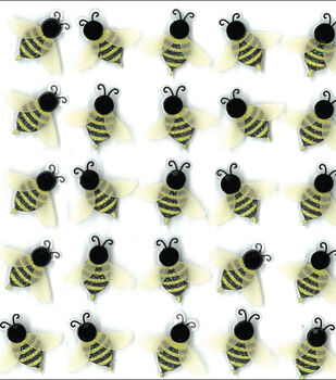 Jolee's Boutique Dimensional Mini Repeats Stickers-Bees