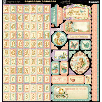 Graphic 45 Sweet Sentiments Cardstock Stickers
