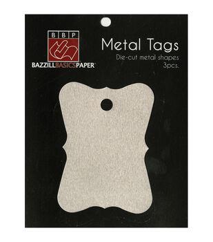 Metal Tags 3/Pkg-Antique Rectangles