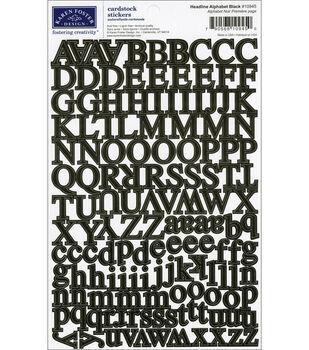 Karen Foster Cardstock Stickers-Headline Alpha