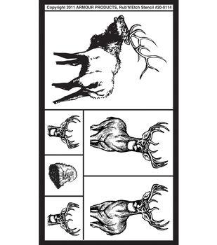 Rub 'n' Etch Glass Etching Stencils-Wildlife