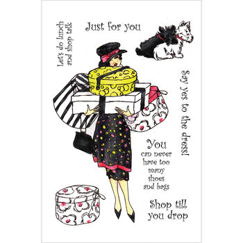 Crafter's Companion Frou Frou EZMount Stamp Set Shoppe