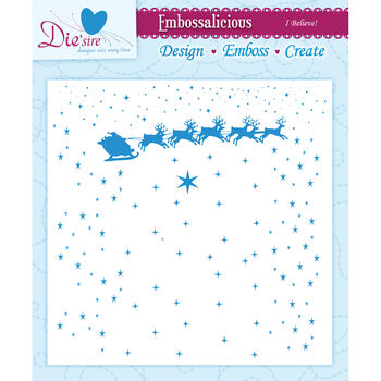 I Believe!-embossing Folder 6x6