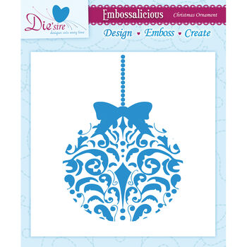 Xm Ornamnt-embossing Folder 6x6