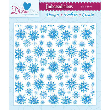 Let It Snw-embossing Folder 6x6