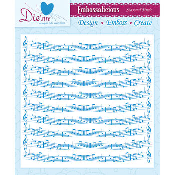 Seasl Musc-embossing Folder 8x8