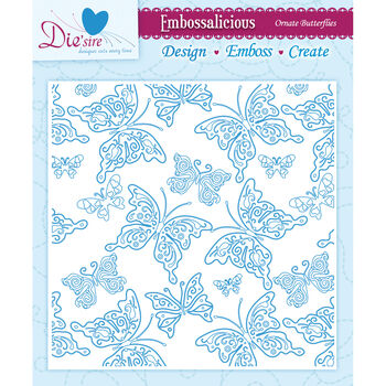 Crafter's Companion Embossalicious Embossing Folders Ornate Butterflies