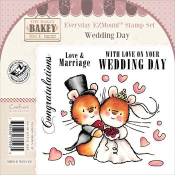 Crafter's Companion Makey Bakey Everyday Cling Stamp Set Wedding Day