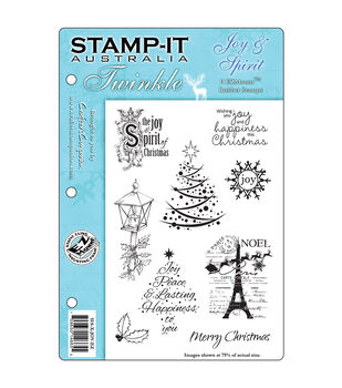 Crafter's Companion Stamp-It Twinkle Cling Stamp Set Joy & Spirit