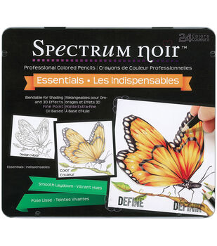 Spectrum Noir Blendable Pencils 24pc Set-Essential Colors
