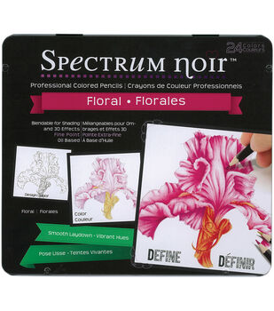 Spectrum Noir Blendable Pencils 24pc Set-Floral Colors