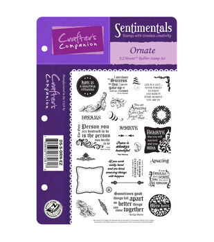 "Die'sire Sentimentals EZMount Cling Set 5.5""X8.5""-Ornate"