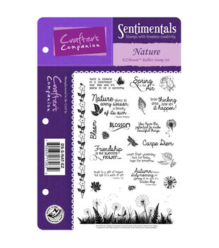 "Die'sire Sentimentals EZMount Cling Set 5.5""X8.5""-Nature"