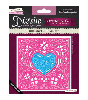 Die'sire Create-A-Card Cutting & Embossing Die-Romance