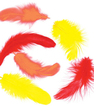.25 oz. Chicken Plumage Feathers-Fire
