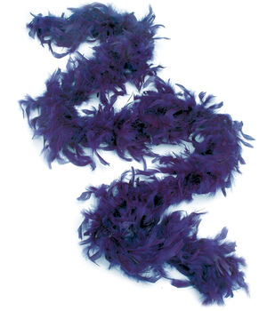 Feather Boa With Chandelle Trim 72''