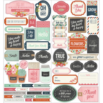 Pebbles Front Porch Cardstock Stickers Phrase