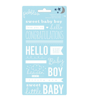 "Special Delivery Boy rub-ons 3.75""X6.75""-Phrases"