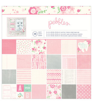 "Special Delivery Girl paper Pad 12""X12"" 48/Sheets-24 Designs"
