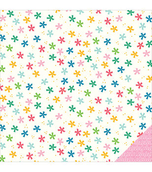 "Birthday Wishes Double-Sided Cardstock 12""X12""-Confetti"