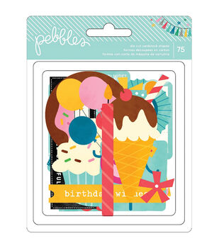 Birthday Wishes Cardstock Die-Cuts 75/Pkg-Shapes
