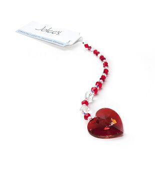 6'' Swarovski Elements Strung Crystals-Rose Heart Pendant
