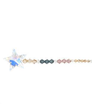 6'' Swarovski Elements Strung Crystals-Aurora Borealis Star Pendant
