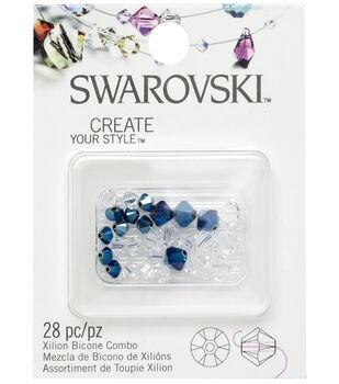 Swarovski Elements-Crystal Blue Metallic Mix