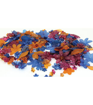 Laliberi Flower Bead Pack-Earthtone/Dark Assorted 218 pieces
