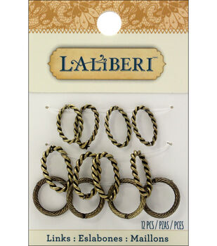 Laliberi Oval and Circle Links 12/Pkg
