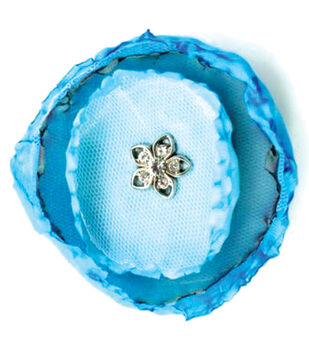 Laliberi by Julie Comstock Ready To Wear Flower-Teal Round