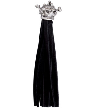 Silver Creek Crown Leather Tassel 1/Pkg-Black