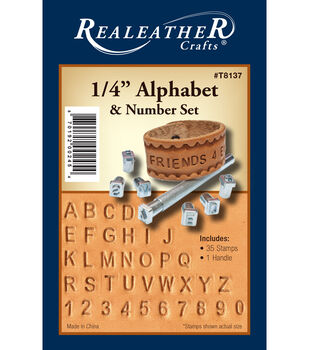"1/4"" Alphabet/Number Stamp Set"