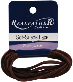 "Sof-Suede Lace .094"" Carded 2yd-Cafe"