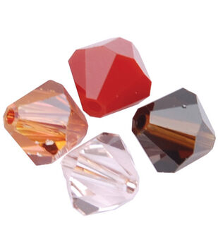 4mm Create Your Style Swarovski Bicone Beads-Earth Mix 30/pk