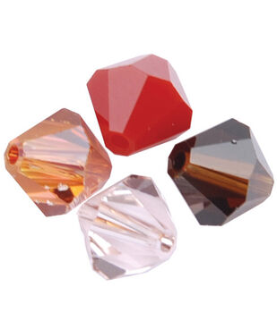 6mm Create Your Style Swarovski Bicone Beads-Earth Mix 15/pk