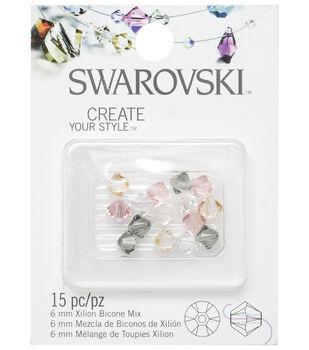 6mm Swarvoski Elements Bicone Beads-Star Mix 15/pk